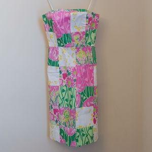 Lilly Pulitzer Derby Patchwork Pink Print Dress